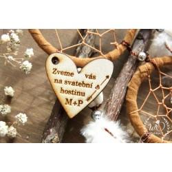 BOHO srdce - Pozvánka na hostinu/raut