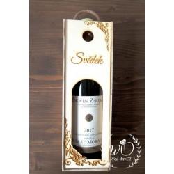 Dárková kazeta na víno SVĚDEK