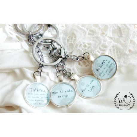 Klíčenka Mamince VAŠE iniciály Datum svatby