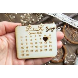 Kalendářík magnetka - Datum Vaší svatby