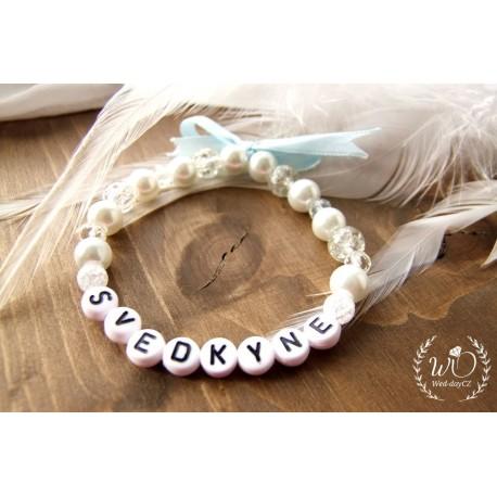 Náramek Svědkyně White pearl