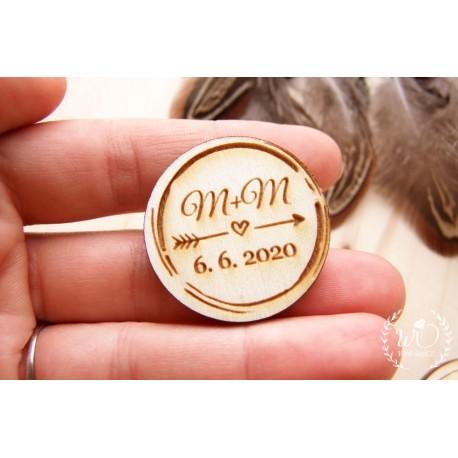 Buttonky - odznaky VÁŠ TEXT BOHO kulaté 1