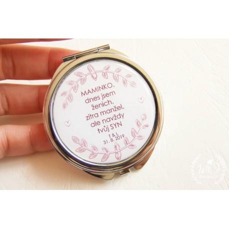 Zrcátko Maminka nevěsty Vaše iniciály a datum