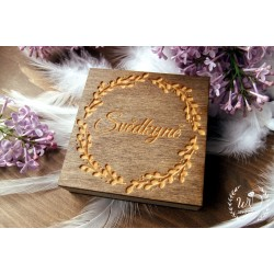 Krabička dřevěná Svědkyně Zrcátko / Náramek
