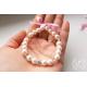 Svatební náramek srdce Rose pearl