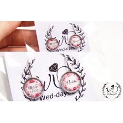 Náušnice jméno + iniciály + datum svatby