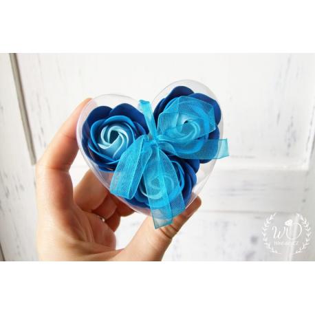 Svatební dárková mýdla Růže 3ks modré