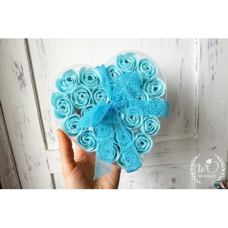 Svatební dárková mýdla Růže v srdci
