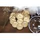Buttonky - brož / magnet BOHO kulaté 3