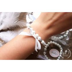 Svatební náramek White pearl