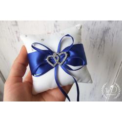 Polštářek pro snubní prstýnky Modrý