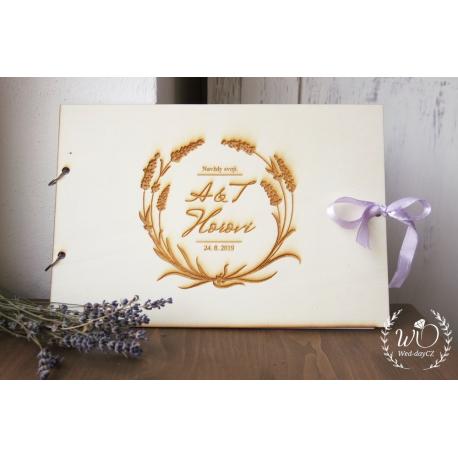 Svatební album - Kniha hostů KVĚTY DELUXE