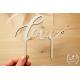 Dřevěný zápich Love