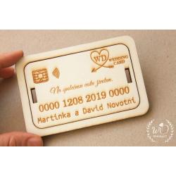 Dárková obálka na peníze NA PŘÁNÍ kreditka