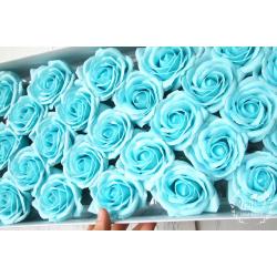 Svatební dárková mýdla Růže tyrkys 25ks