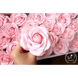 Svatební dárková mýdla Růže růžové 1ks