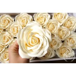 Svatební dárková mýdla Růže šampaň 1ks