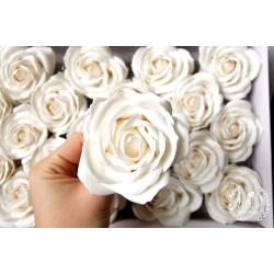 Svatební dárková mýdla Růže bílá 1ks