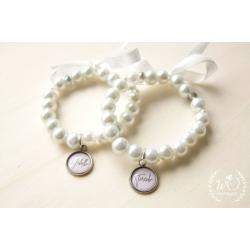 Svatební náramek White pearl s Vaším jménem