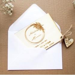 Kladívková bílá - Obálka pro svatební oznámení C6