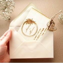 Obálka pro svatební oznámení / blahopřání C6 bílá