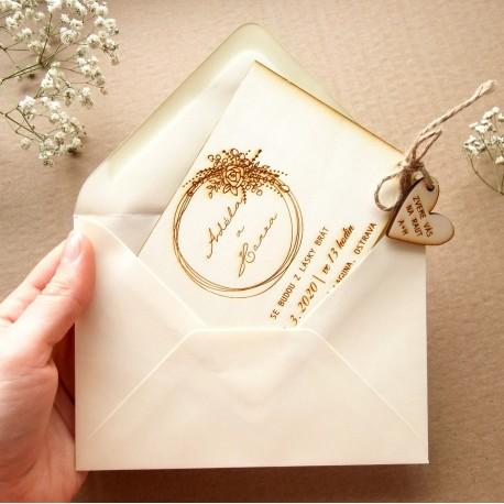 Krémová - Obálka pro svatební oznámení C6