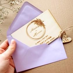 Šeříková lila - Obálka pro svatební oznámení C6