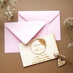 Světlá růžová - Obálka pro svatební oznámení C6