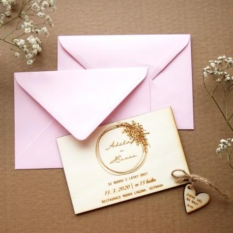 Obálka pro svatební oznámení C6 šeříková lila