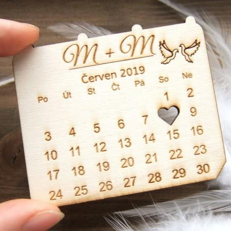 Kalendářík magnetka - Oznámení