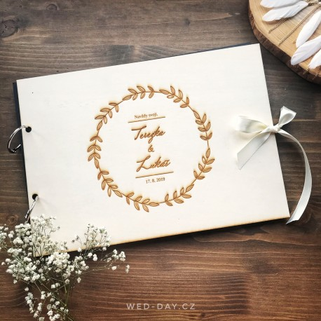 Svatební album - Kniha hostů Rustik větvičkový kruh