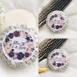 Bordó růže + váš text - Svatební mýdlo