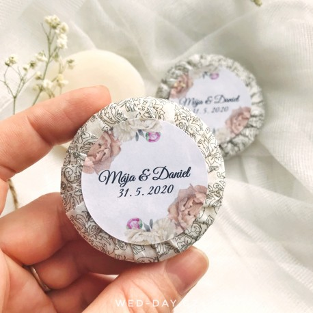 Svatební mýdlo Váš text Pivoňky