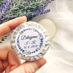 Levandule + váš text - Svatební mýdlo