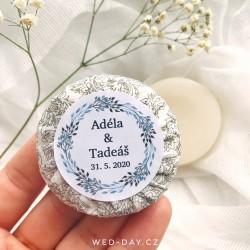 Simple + váš text - Svatební mýdlo