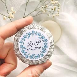 Pomněnky + váš text - Svatební mýdlo
