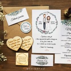 Boho Ženich a nevěsta - Oznámení