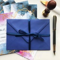 Obálka pro oznámení C6 modrá iris