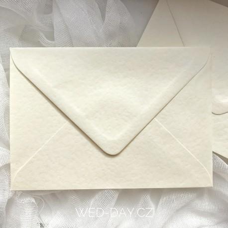 Krém mačkaná - Obálka pro svatební oznámení C6