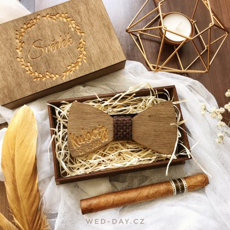 Motýlek - krabička dřevěná