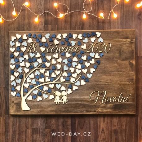 Svatební strom Zamilovaný pár - kniha hostů