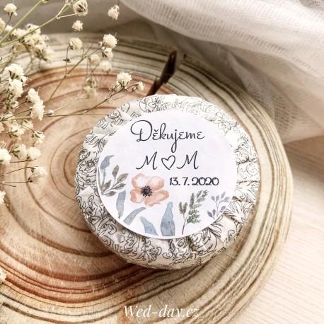 Luční květy + váš text - Svatební mýdlo