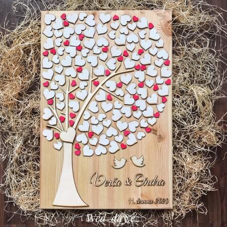 Svatební strom Ptáčci - kniha hostů