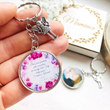 Svatební klíčenka VAŠE foto a text