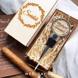 """Krabička dřevěná """"Svědek"""" Zátka na víno"""