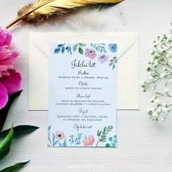 Luční květiny - Svatební menu