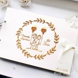 Zamilovaný pár + balónky - Svatební album/Kniha hostů