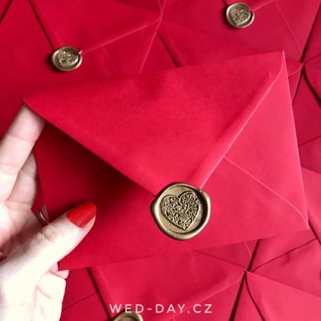 Červená s pečetí - Obálky a pečetě