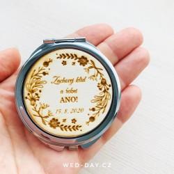Zrcátko Nevěsta + datum svatby