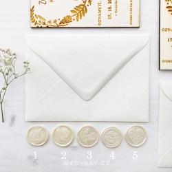 Svatební pečeť na obálku Perleť